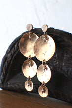 Load image into Gallery viewer, Celestial Coldsnap Earrings with Rainbow Moonstone, One of a Kind
