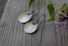 Load image into Gallery viewer, Rae Silver Scoops, MADE TO ORDER, Sterling Silver earrings with hand-stamping
