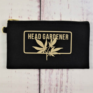 Canvas weed case | head gardener | cannabis lovers & connoisseurs | budtenders home growers | organize drugs and makeup | customizable