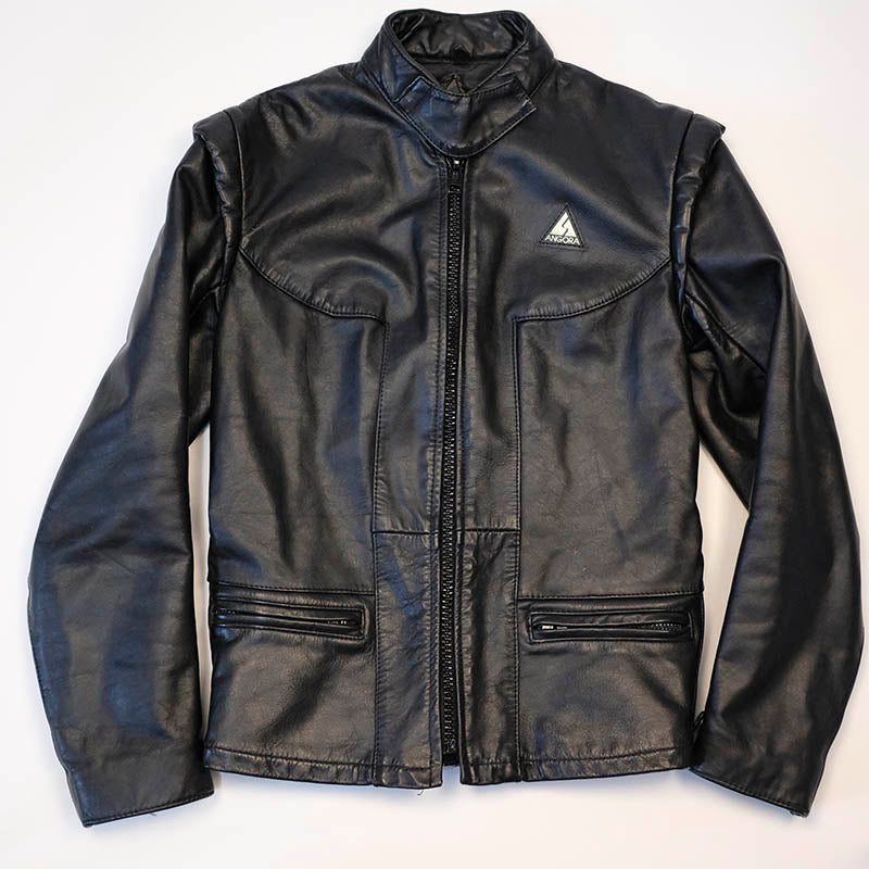 Vintage leather racer jacket