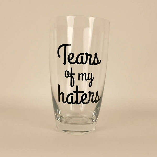Tears of my haters - set of 2 mix and match short, tall and wine tumblers + colours and designs