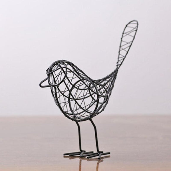 Mini Iron Bird Figurine