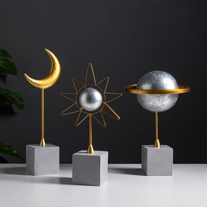 Sun, Moon and Earth Resin Model