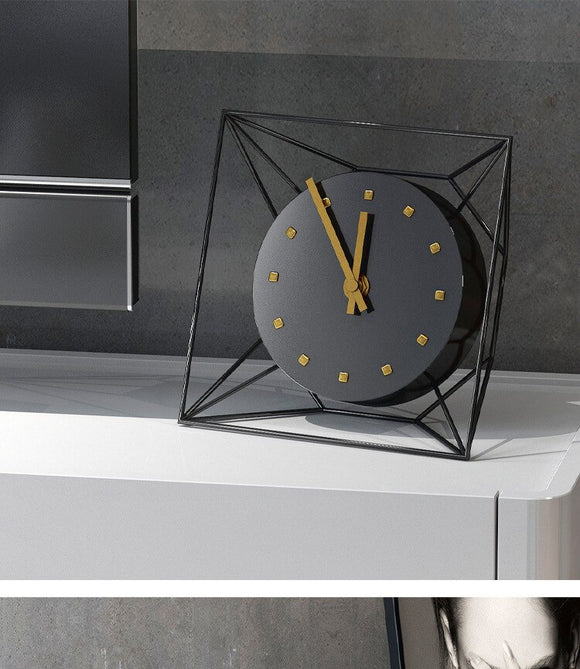 Luxury Black Iron Clock