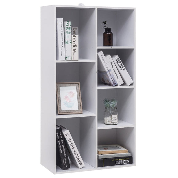 4-Tier Wooden Bookcase Book Display Shelves Storage