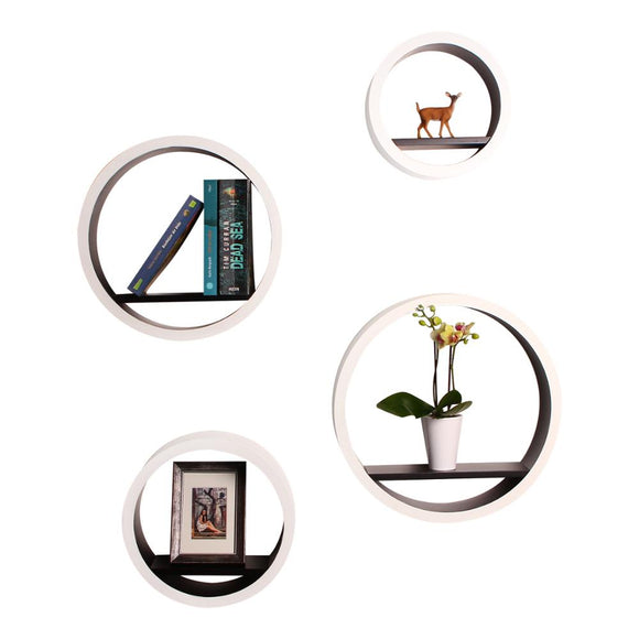 Round Floating Shelves 4pcs Set