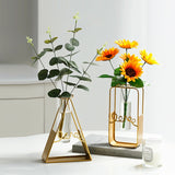 Golden Retro  Table Top Vase