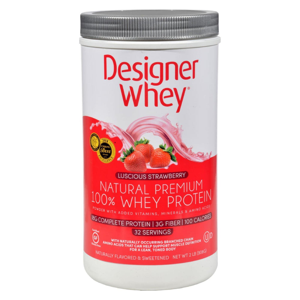 Designer Whey - Protein Powder - Strawberry - 2 lbs