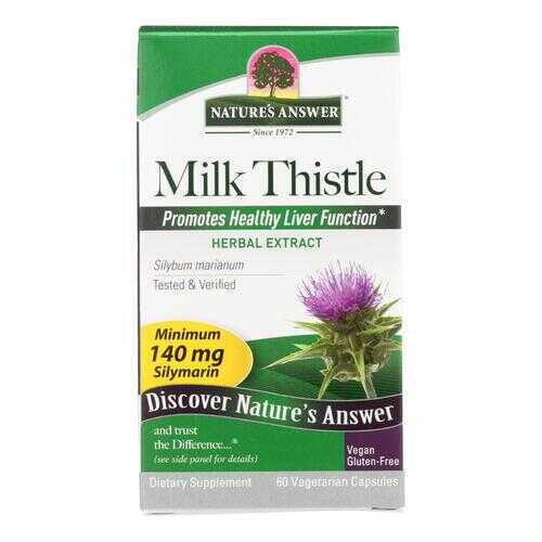 Nature's Answer - Milk Thistle Seed Extract - 60 Vegetarian Capsules
