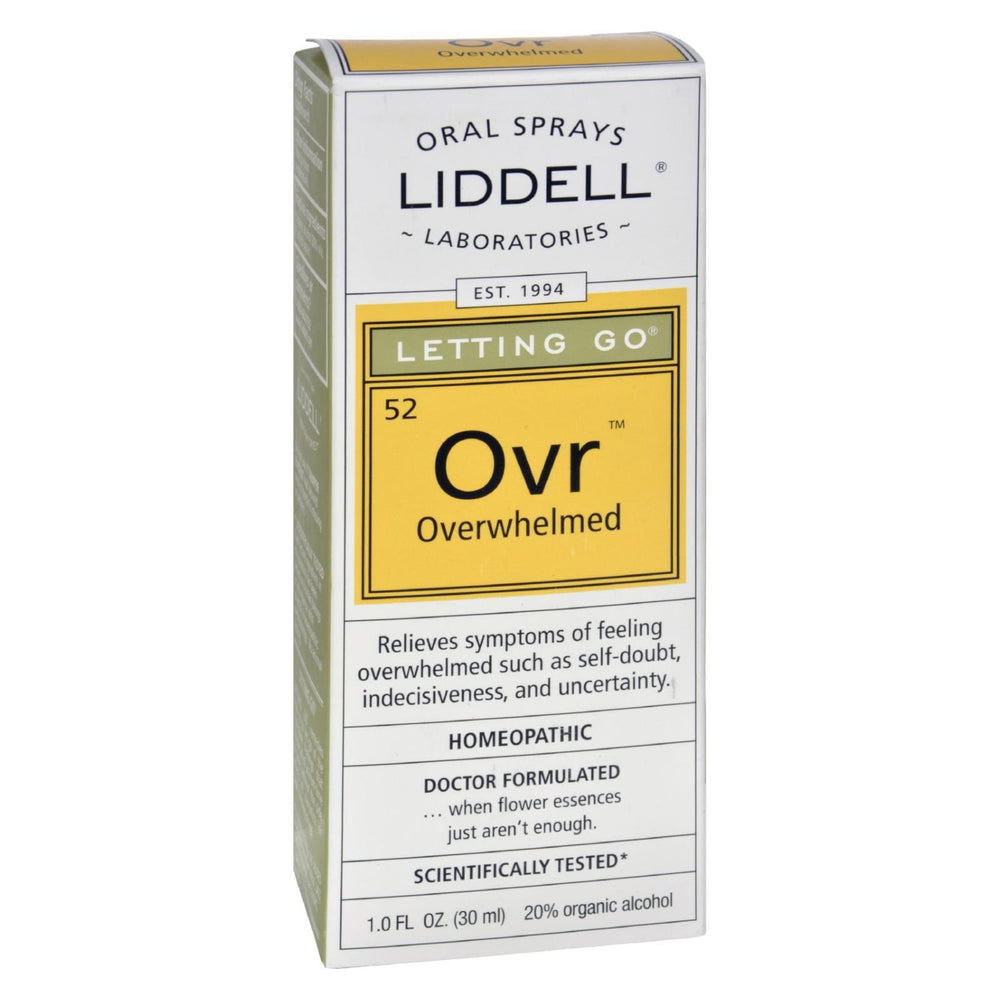 Liddell Homeopathic Letting Go Overwhelmed Spray - 1 fl oz