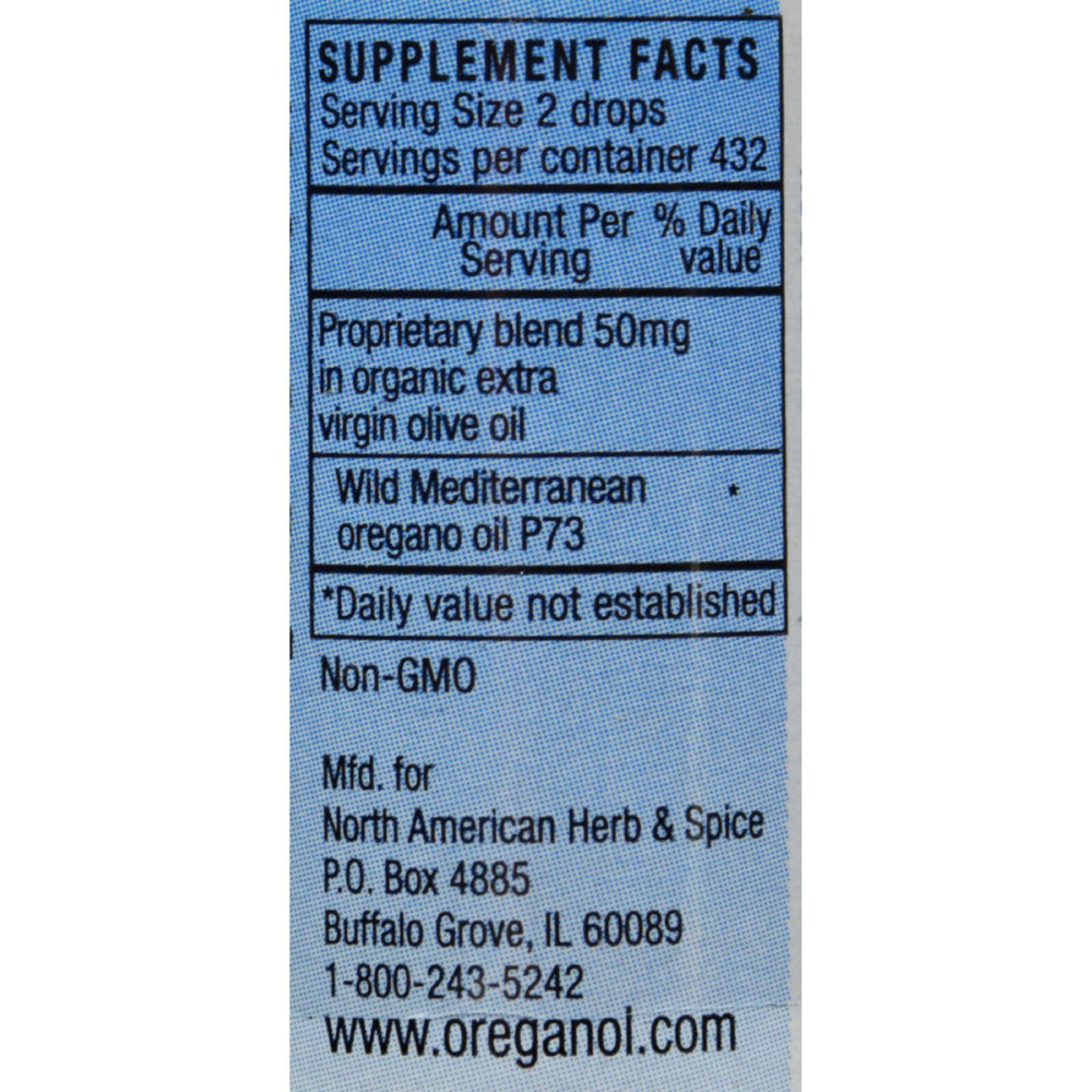 North American Herb and Spice Oreganol Oil of Oregano - 1 fl oz