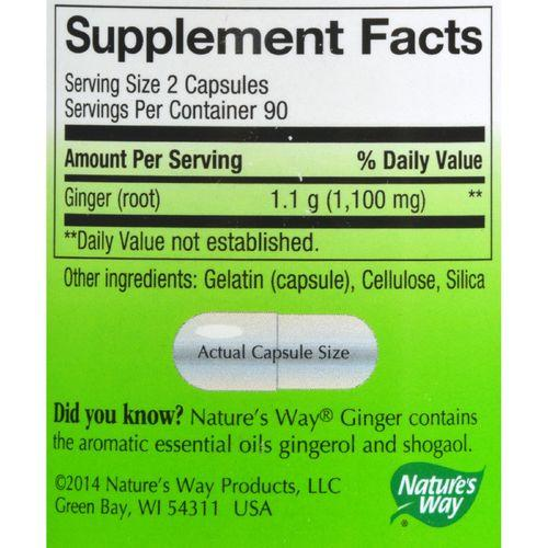 Nature's Way - Ginger Root - 180 Capsules