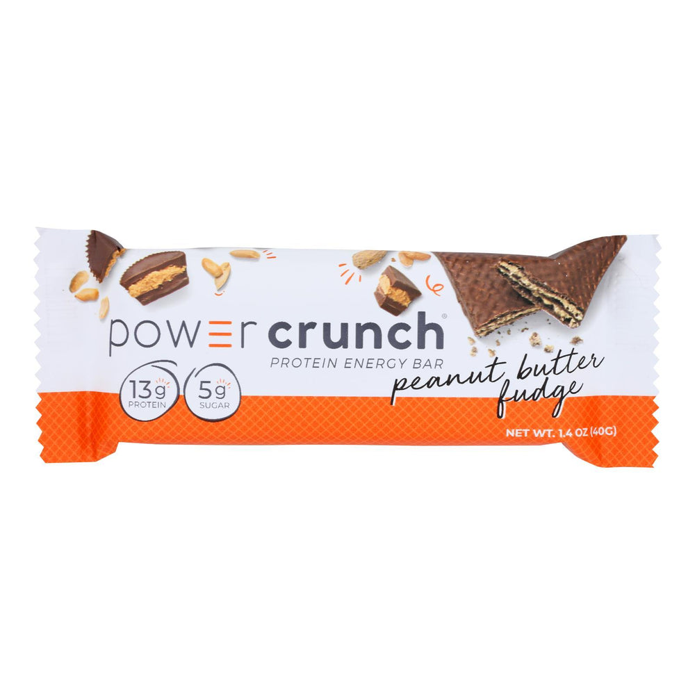 Power Crunch Bar - Peanut Butter Fudge - Case of 12 - 1.4 oz