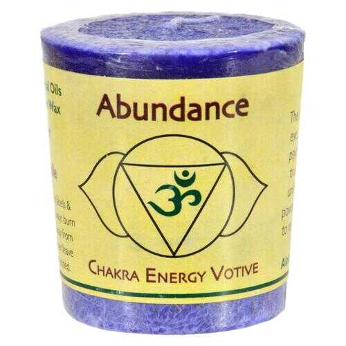 Aloha Bay - Chakra Votive Candle - Abundance - Case of 12 - 2 oz