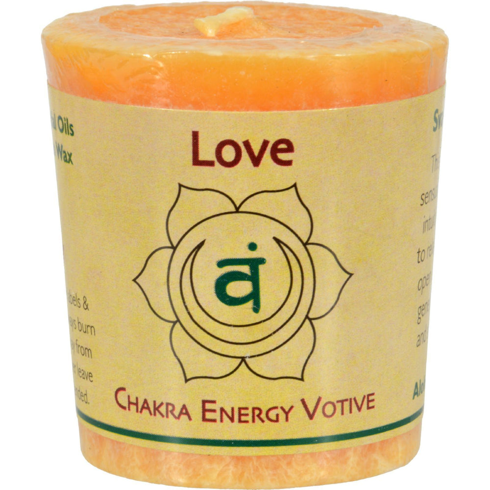 Aloha Bay - Chakra Votive Canlde - Love - Case of 12 - 2 oz