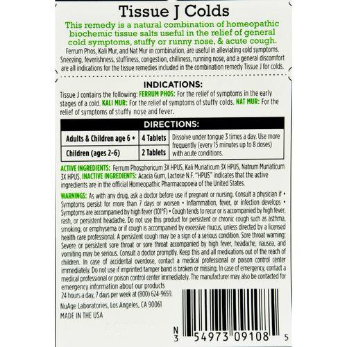 Hyland's Tissue J Colds - 125 Tablets