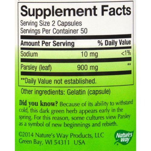 Nature's Way - Parsley Leaf - 100 Capsules