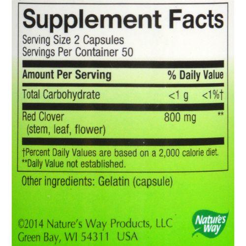Nature's Way - Red Clover Blossom and Herb - 100 Capsules