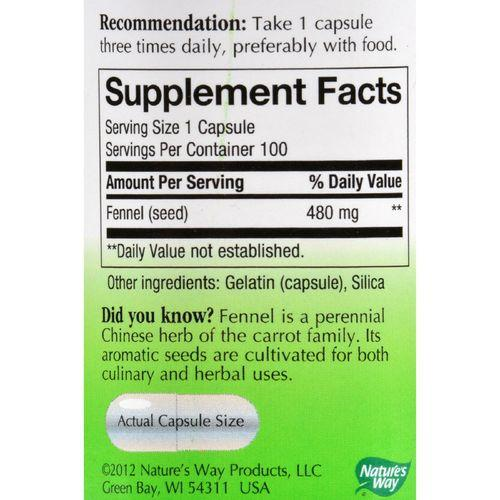 Nature's Way - Fennel Seed - 100 Capsules