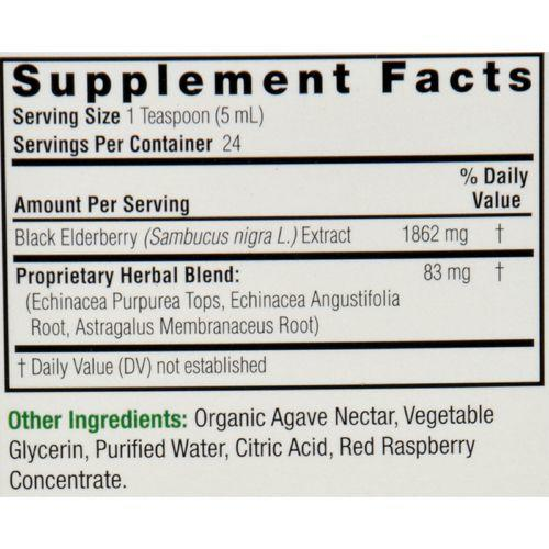 Nature's Answer - Sambucus nigra Black Elder Berry Extract Kids Formula - 4 fl oz