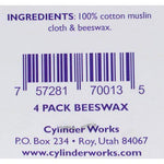 Cylinder Works - Beeswax Ear Candles - 4 Pack