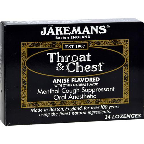 Jakemans Throat and Chest Lozenges - Anise - Case of 24 - 24 Pack