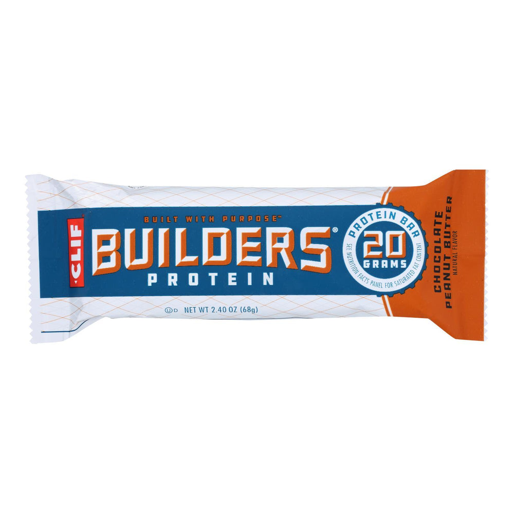 Clif Bar Builder Bar - Chocolate Peanut Butter - Case of 12 - 2.4 oz
