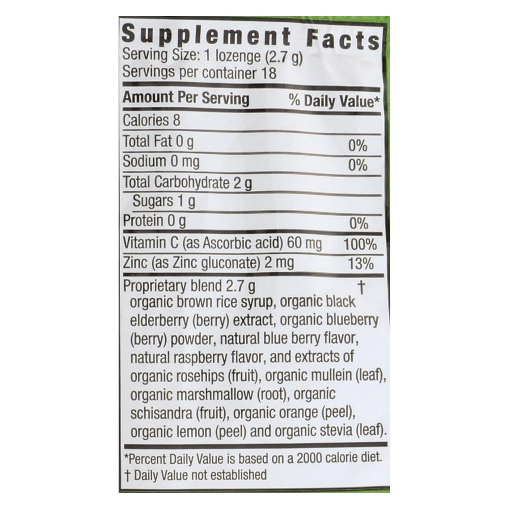 Zand Organic Blueberries Herbalozenges  - Case of 12 - 18 CT
