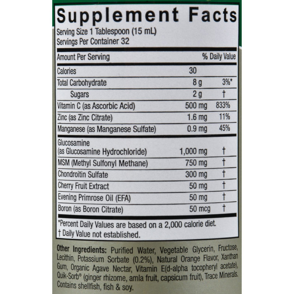 Nature's Answer - Liquid Glucosamine and Chondroitin with MSM Natural Orange - 16 fl oz