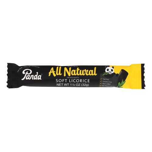 Panda Licorice Bars - Natural - Case of 36 - 1.125 oz