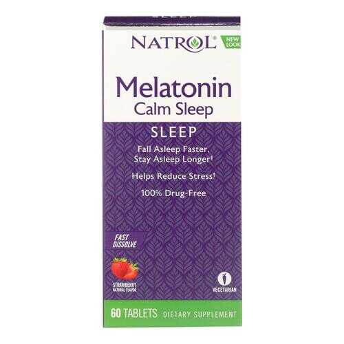 Natrol Advanced Melatonin Plus Fast Dissolve Strawberry - 60 Tablets