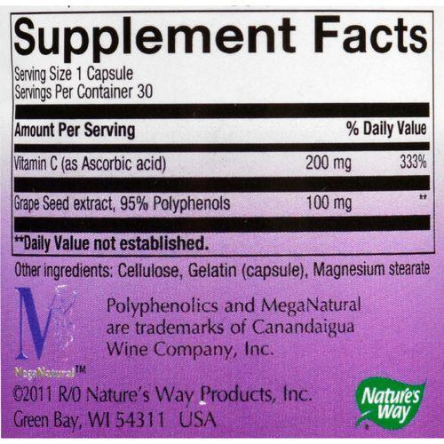 Nature's Way - Grape Seed Standardized - 30 Capsules