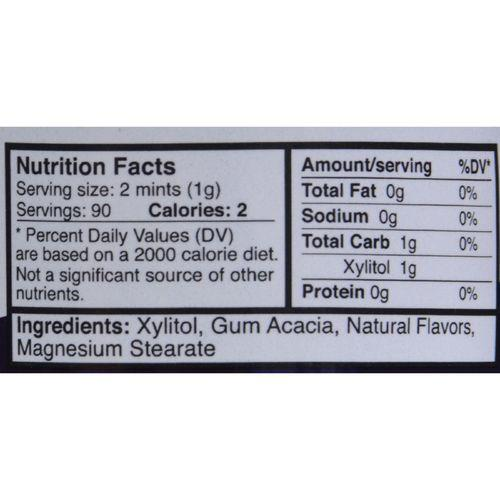Epic Dental - Xylitol Mints - Peppermint Xylitol Bottle - 180 ct