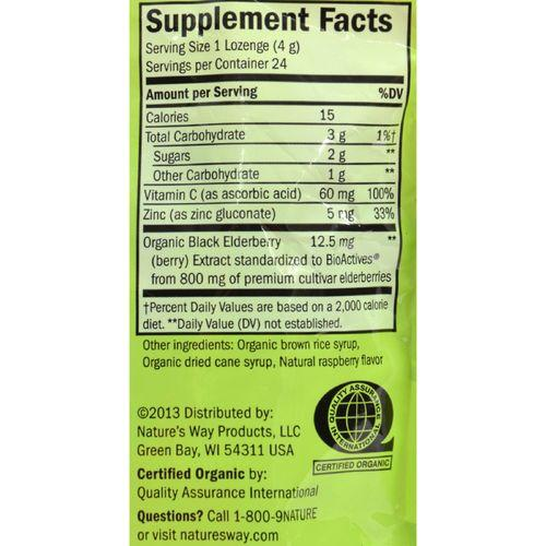 Nature's Way - Lozenge - Organic - Elderberr Zinc - 24 Count