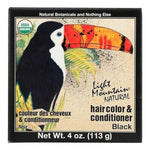Light Mountain Hair Color/Conditioner - Organic - Black - 4 oz