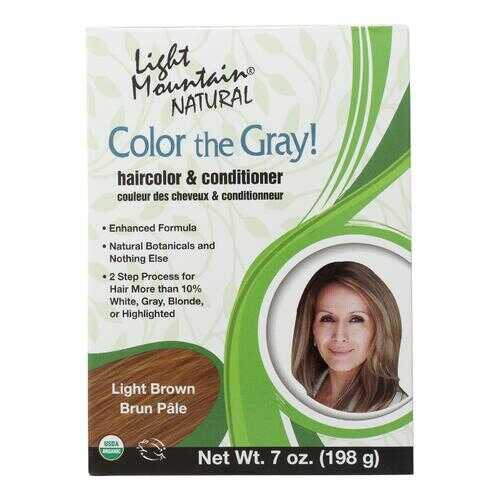 Light Mountain Hair Color - Color The Gray! Light Brown - Case of 1 - 7 oz.