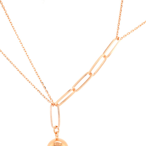 Chain detail of amy bel Korea 925 sterling silver necklace Assorted Chain & Silver Ball
