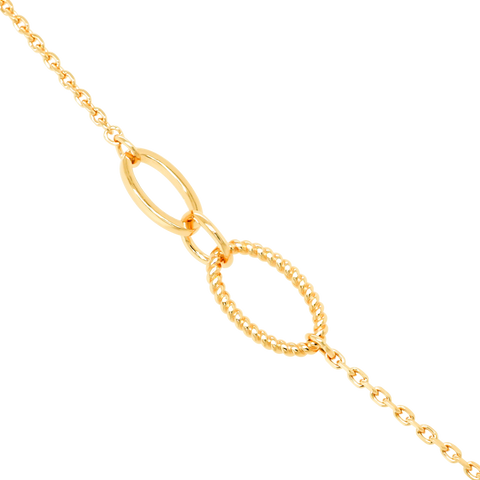 amy bel Korea 925 Sterling Silver Necklace Assorted Chain with Cubic Charms in Yellow Gold Color detail reference.