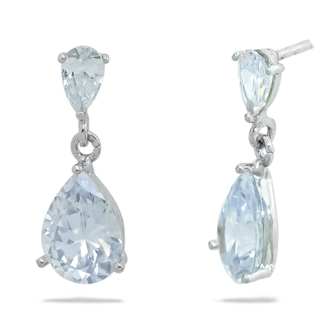 A set of Korean Earrings of the amy bel Korea signature set Simple Tear is displayed on the white background.