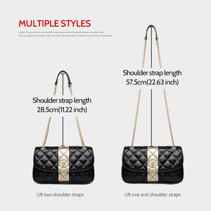 FOXER Chain Strap Messenger Bag Diamond Lattice Flap Ladies Shoulder Bag