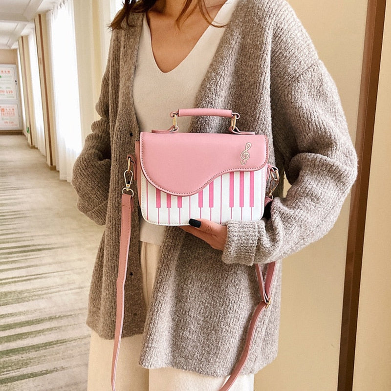 Piano Designer Top-handle Sling Shoulder Bag Trendy Fashion Handbags