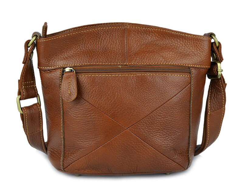 Genuine Cowhide Leather Crossbody Bag Small Messenger Bag For Ladies