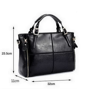 FUNMARDI Luxury Women Designer Top-Handle Leather Bag