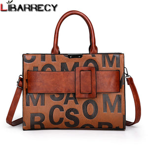 Libarrecy Letter Design Shoulder Bag Ladies Crossbody Hand Tote