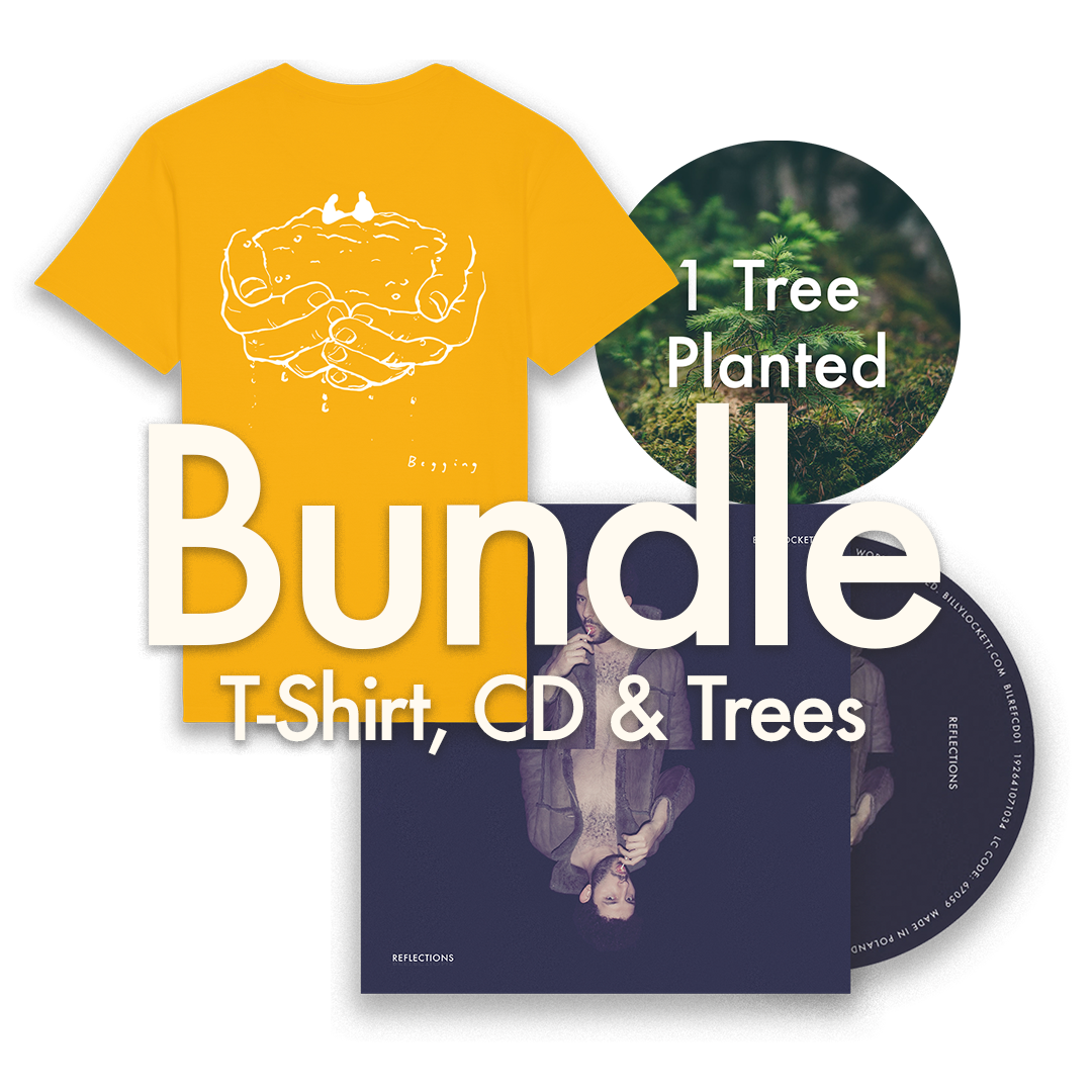 "CD + T-Shirt (""Begging"" Design) + 1 Tree Planted"