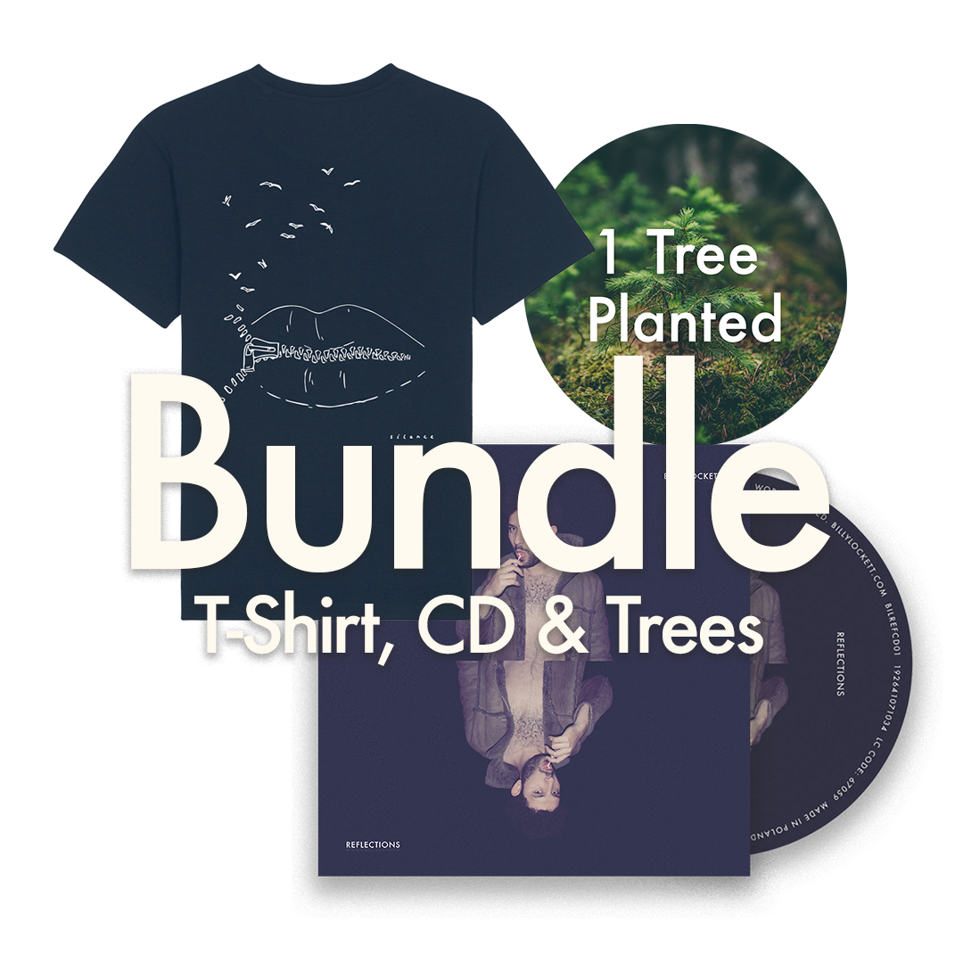 "CD + T-Shirt (""Silence"" Design) + 1 Tree Planted"