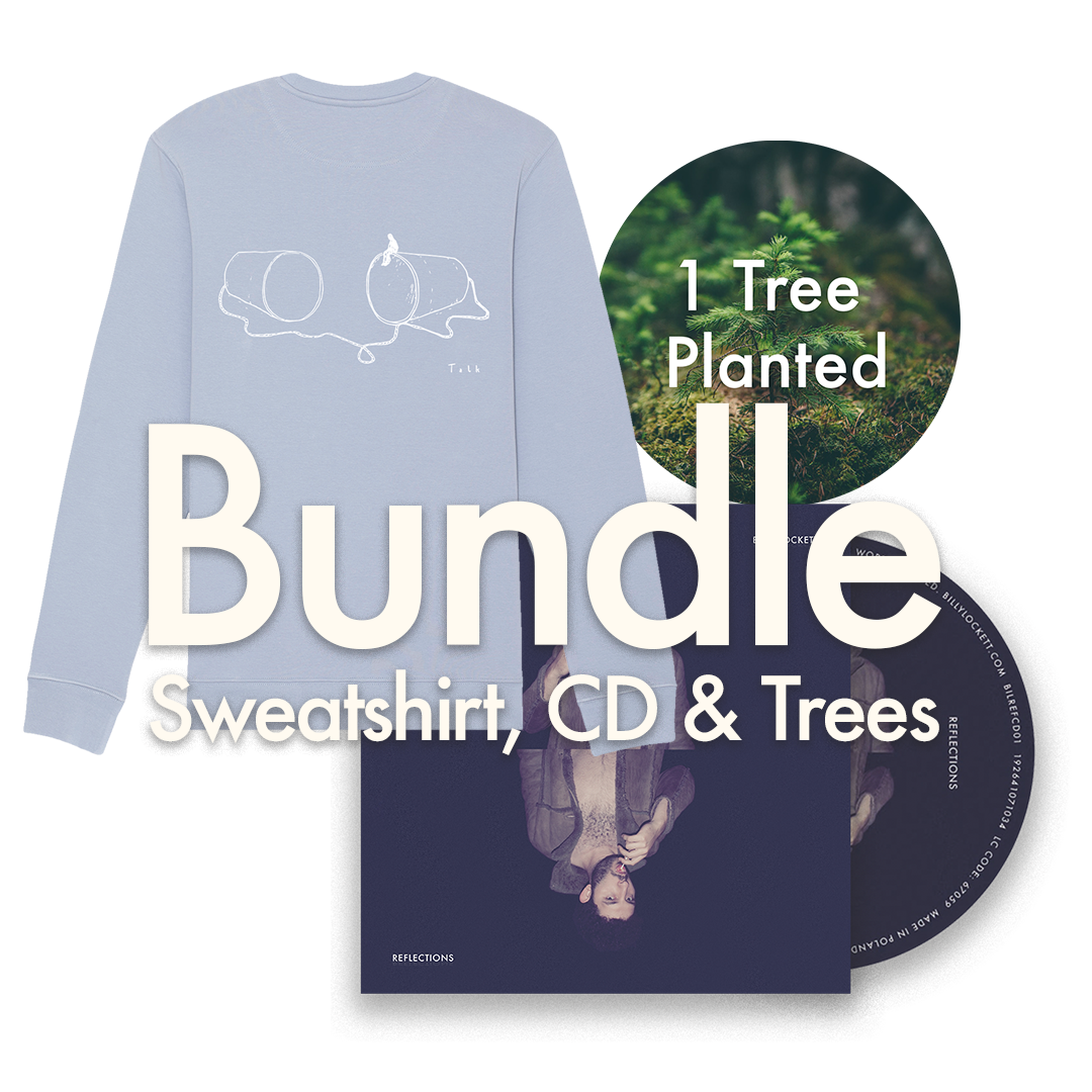 "CD + Sweatshirt (""Talk"" Design) + 1 Tree Planted"