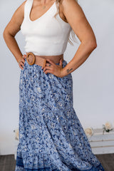 SOLITA MAXI SKIRT - BLUE FLORA
