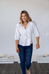 LINDSEE TOP - WHITE