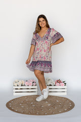 JILLY DRESS - PURPLE HEARTS